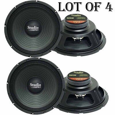 LOT OF (4) - WH10 10' 300 Watt High Power Paper Cone 8 Ohm Subwoofer High Power Paper Cone