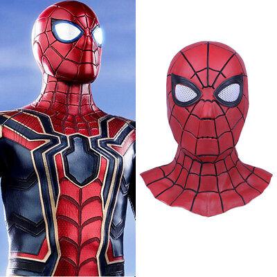 2018 Movie Avengers 3 Infinity War Iron Spider Man Cosplay Masks Latex Superhero - Movie Masks