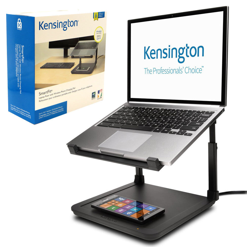 Supporto stand notebook portatile laptop SmartFit Kensington +tappetino wireless