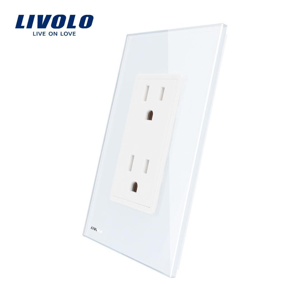 LIVOLO US Standard Panel AC 110-250V  2 Gang Wall  Socket