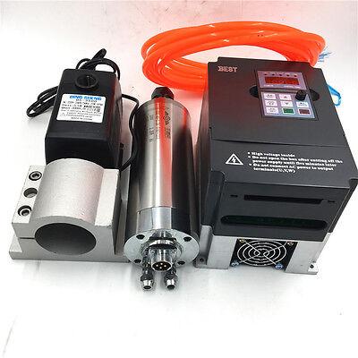 3kw Spindle Motor Er20 Cnc Kit Water-cooled 4kw Vfd Inverterbracket Milling