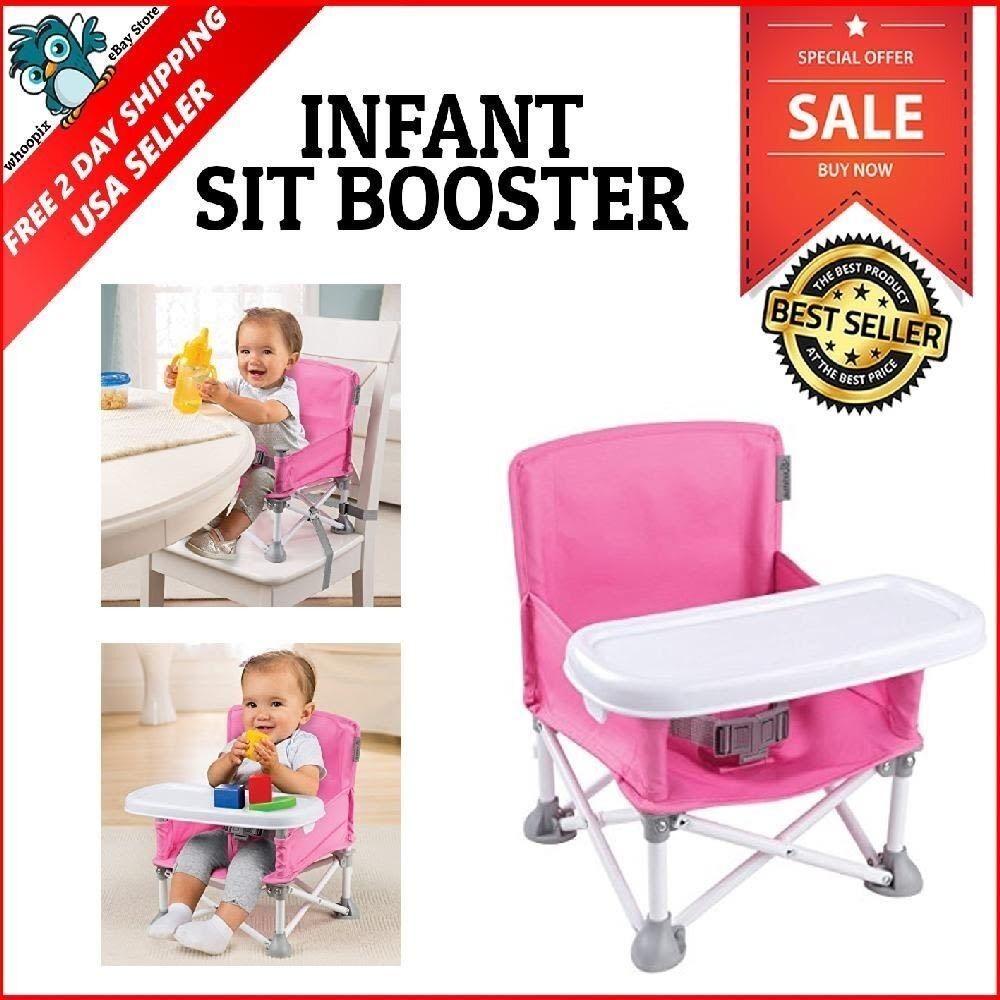 Summer Infant Pop N' Sit Portable Booster, Pink