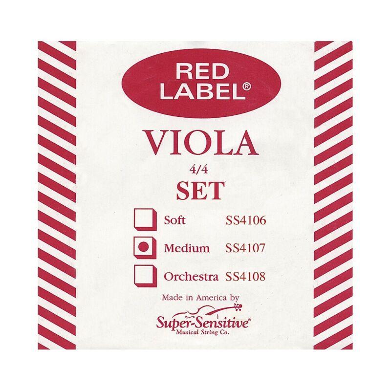 Super Sensitive Red Label Viola String Set Full