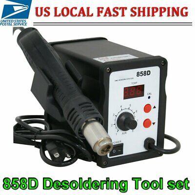 858 110v Hot Air Gun Smd Electric Rework Soldering Station Desoldering Tools Kit