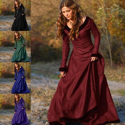 Cosplay Damen Kostüm (Neu Vintage Damen Mittelalterliches Renaissance Kleid Prinzessin Cosplay Kostüm)