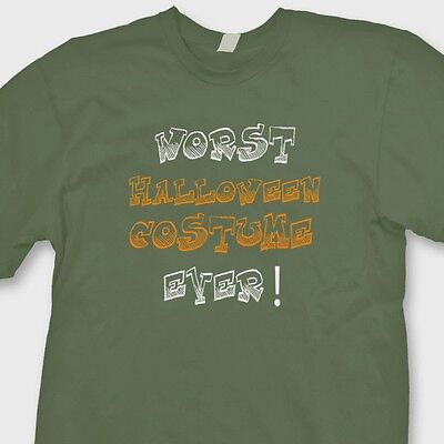WORST HALLOWEEN COSTUME EVER T-shirt Funny Humor Tee Shirt
