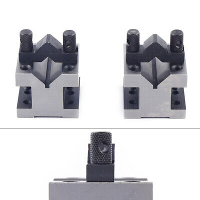 V Block Clamp Set Steel Angle Precision V Block Set Multi-use Gauge Gage Machini