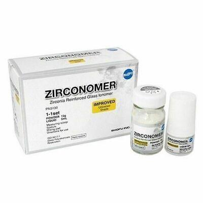 Shofu Zirconomer Zirconia Reinforced Glass Ionomer Permanent Dental Cement Kit