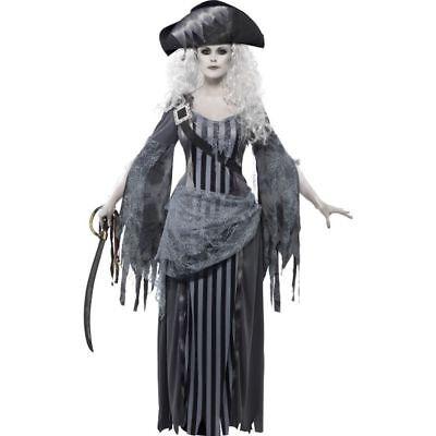 Smi - Halloween Damen Kostüm Geisterschiff Piratin Zombie