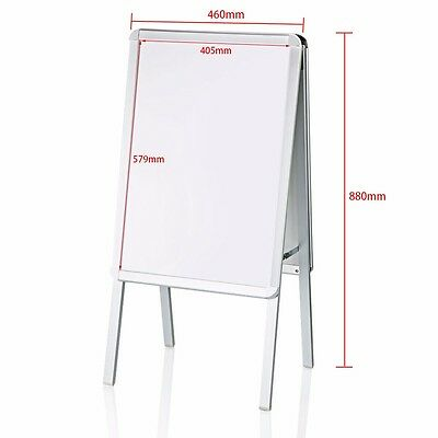 Double Side Aluminium A2-Board Pavement Sign Snap Frame Poster Display Stand UK