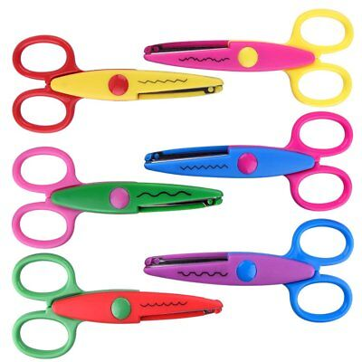 6 Pcs Kids Safety Scissors Art Craft Scissors Set for Kids and Students Paper (Kid Scissors Safety)