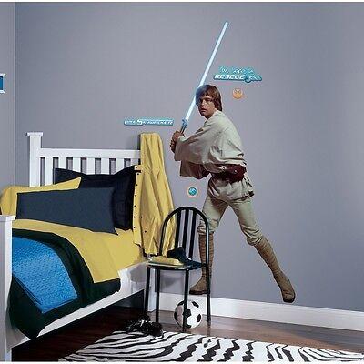 LUKE SKYWALKER GiaNT WALL DECALS BiG Star Wars Movie Stickers NEW Bedroom Decor - Star Wars Bedroom Decorations