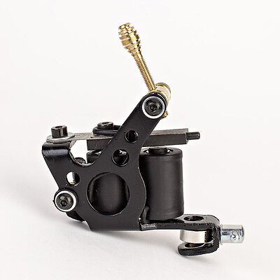 - New Classic Black Tattoo Machine Gun w/ Set of 10-Wrap Coils for Liner or Shader