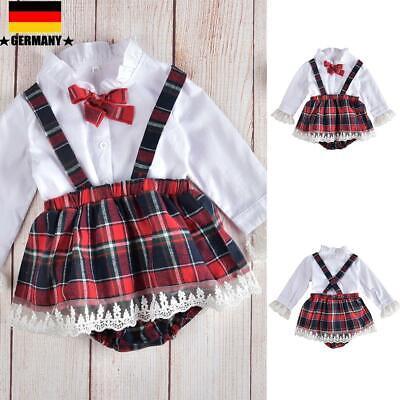 Mädchen Shirt Tutu Kleid Strampler Plaid Hosen Outfits Kleidung (Kleinkind Mädchen)