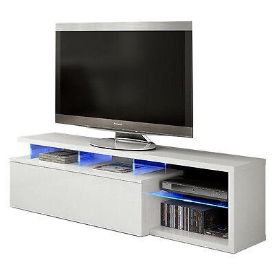 Mobile base TV con illuminazione LED soggiorno mensola design casa 026630BO
