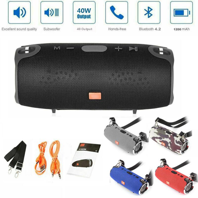 40W Tragbarer Wireless Bluetooth Lautsprecher Stereo Subwoofer TF AUX Musikbox
