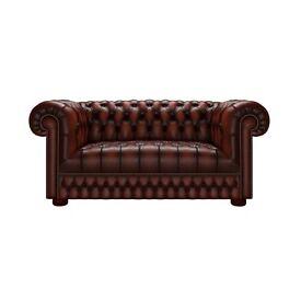 Saxon Chesterfield Suite (antique chestnut)
