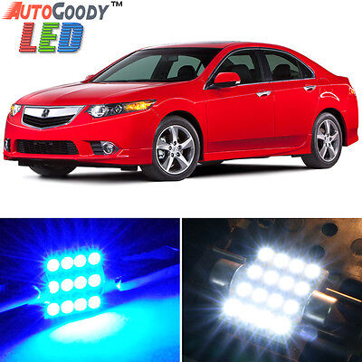14 x Premium Blue LED Lights Interior Package Kit for Acura TSX 2009-2014 + Tool