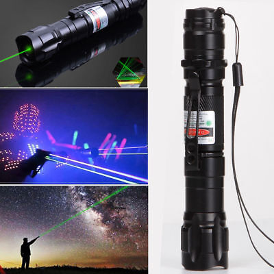 50Miles Military 1mw Green Laser Pointer Pen Light 532nm Visible Beam Burn Focus for sale  USA