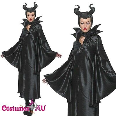 Ladies Maleficent Disney Costume Movie Official Halloween Rubies Fancy Dress - Disney Official Costumes