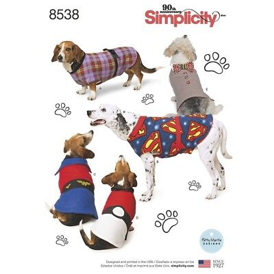 SEWING PATTERN! MAKE DOG CLOTHES~COSTUMES! SUPERMAN~WONDER WOMAN~COAT! 3 SIZES