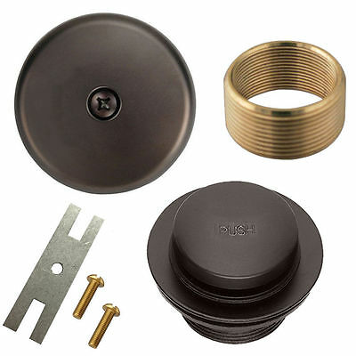 Oil Rubbed Bronze Toe Tap Touch Bath Tub Drain Conversion Kit Assembly, Overflow
