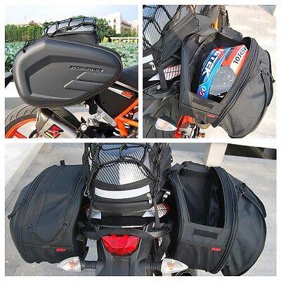 Pair Komine Side saddle bag package motorcycle bag helmet waterproof 58L