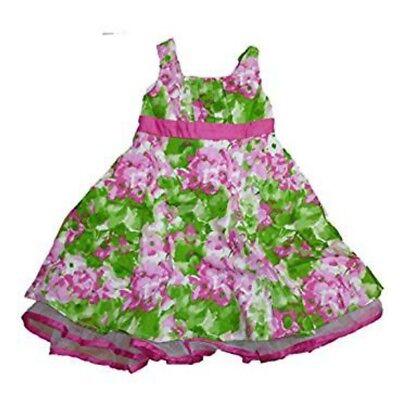 Brooke Lindsay Mädchen Sommer Petticoat Kleid mit Tüll Rüschen Saum Blumen 92
