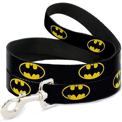 Buckle Down Batman Dog Leash 4ft Black/Yellow