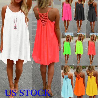 US Womens Bikini Cover Up Kaftan Beachwear Beach Short Dress Ladies Mini Dress