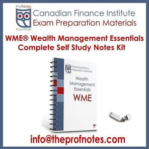 WME Exam Prep Textbooks Wealth Management Essentials Study Notes for CSI Canadian Securities Institute Exams