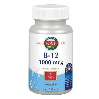 B-12 Sustained Release 50 Tabs 1,000 mcg by Kal