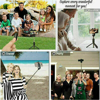 Telescopic Bluetooth Selfie Stick Phone Holder Tripod Monopod For Samsung iPhone