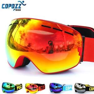 COPOZZ Biking ,ski goggles double layers UV400 anti-fog big mask (Lense is Made In Italy ) (FREE SHIPPING)