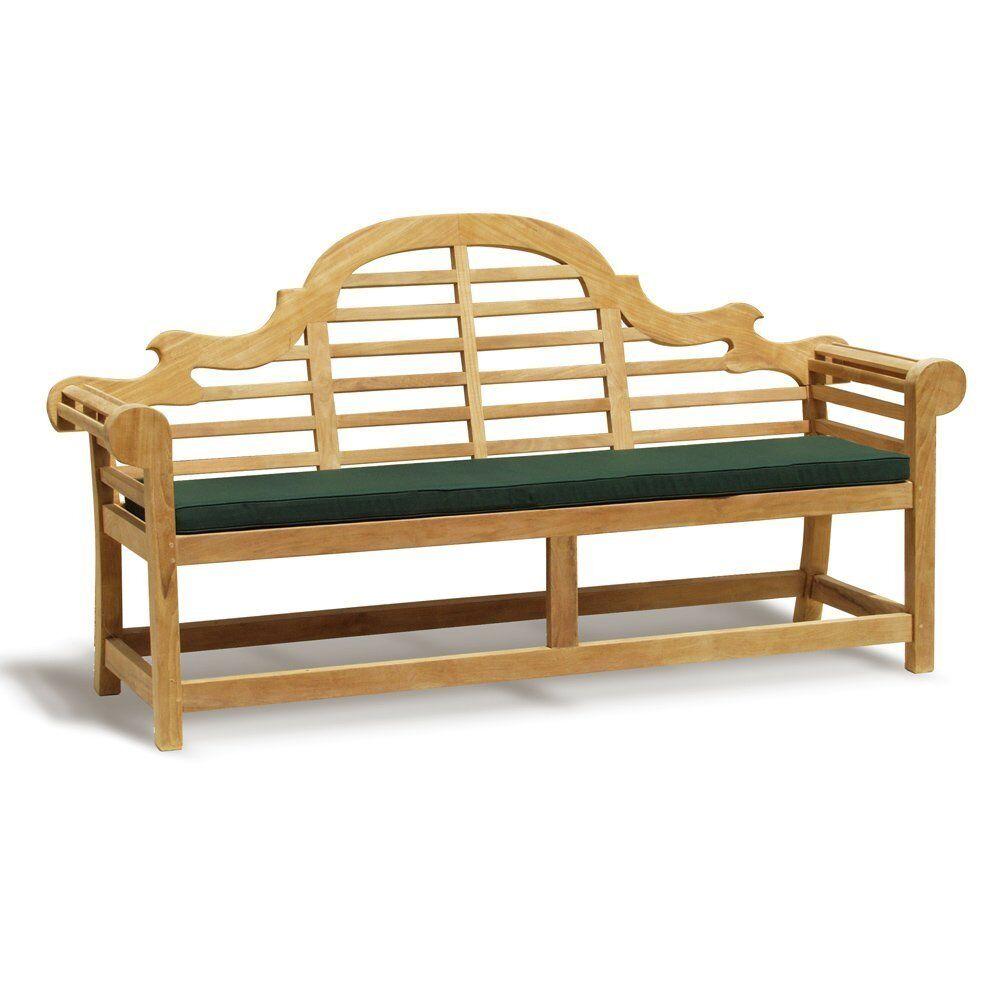 Lutyens Sustainable Teak Park Patio Garden Bench 6 Sizes