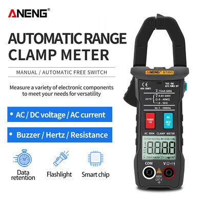 St203 Digital Multimeter Amper Clamp Meter Voltage Tester Current Safety Black