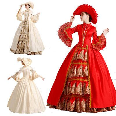 Viktorianisches Damen Mittelalter Marie Antoinette Rococo Cosplay Kostüme Kleid