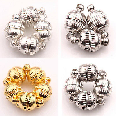 Round Strong Magnetic Clasps for Bracelets Necklace End Clasps Jewelry Making - Clasps For Jewelry Making