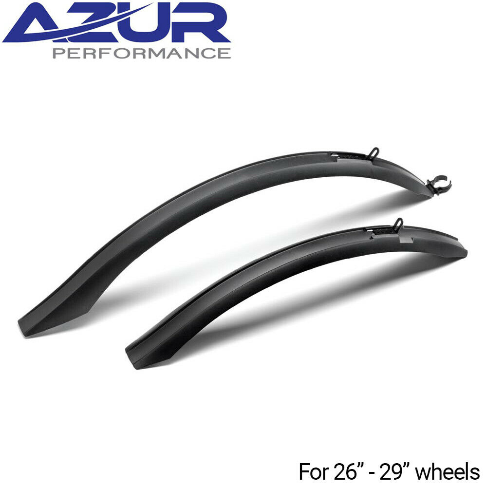 Azur M1 Guard MTB Front//Rear Seatpost Mudguard Set Black