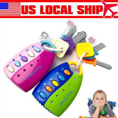 Car Key Toy Remote Control Key Educational Toy Car Key Gift for Kids Toddler