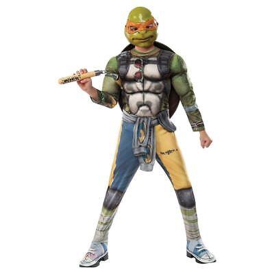 Ninja Turtles Kinder Jungen Fasching Halloween Karneval Kostüm Michelangelo S L ()
