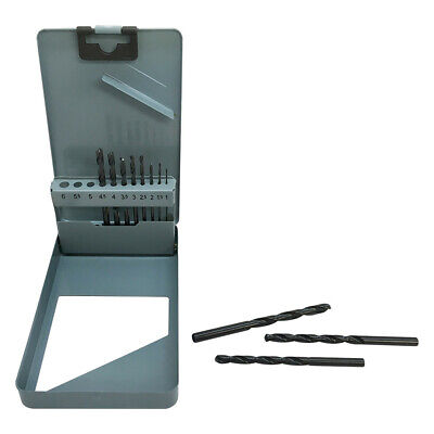 Metal Index Straight Shank Drill 11 Pc Hss 1-6mm Metric Jobber Drill Set