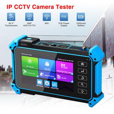 "5"" 8MP IP CCTV Camera Tester AHD CVI TVI CVBS Test Security Monitor HDMI VGA LCD"