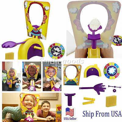 Funny Exciting Adult Kids Family Rocket Game Pie Face Children Toy Gift