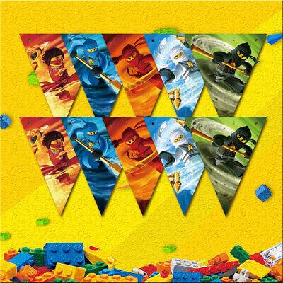 Diy Party Banner (1pcs Ninjago Ninja Theme Party Banner (10 Flags) for Boys Girls DIY)