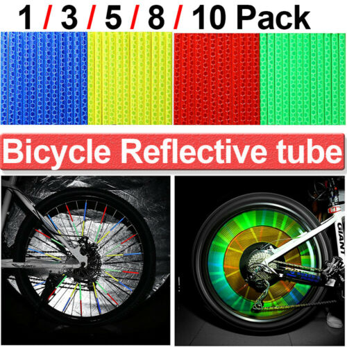 120Stk Speichenreflektoren Fahrrad Reflektor Speichenstrahler Felgenreflektoren