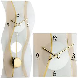 AMS Quartz Wall Clock with Pendulum Pendulum Clocks MINERAL GLASS NEW