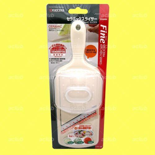 Kyocera Ceramic Adjustable Mandoline Slicer  with Handguard