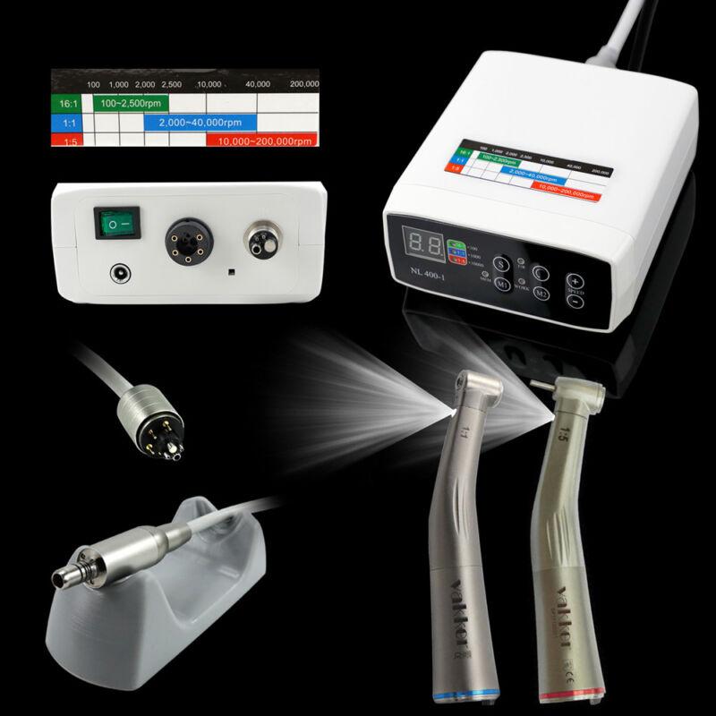 NSK Internal Spray Dental Electric Motor + 1:1 + 1:5 LED Handpiece Contra Angle