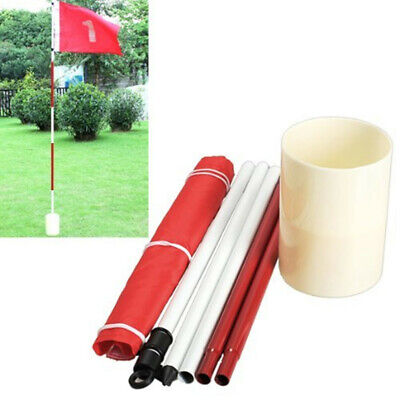 Backyard Practice Golf Hole Pole Cup Flag Stick Golf Putting Green Aid 5 Section